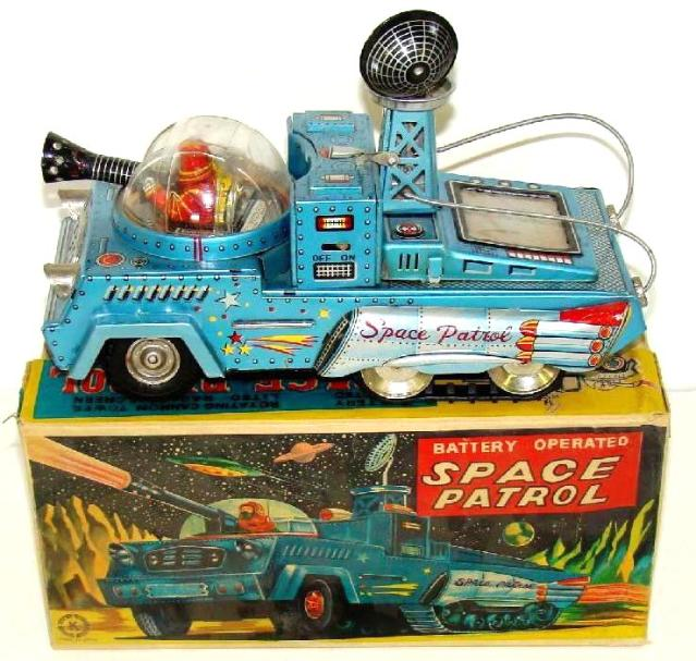 Japan vintage space cars, vintage tin toy robots, vintage 1960's space toys price guide,vintage tin toy rocket ship,  rare blue japan space cars, buying all antique space toys with or withou box. japanese tin toy robots, wind-up toys, japanese battery operated robots, alps toys, cragstan toy robots, Alps robots with battery operation, ebay vintage space tin robots price guide, buddy l toys wanted, buddy l cars appraisals fast, buddy l trucks, japan tin space toys, space robots, space trucks, vintage space martians,  appraisals
