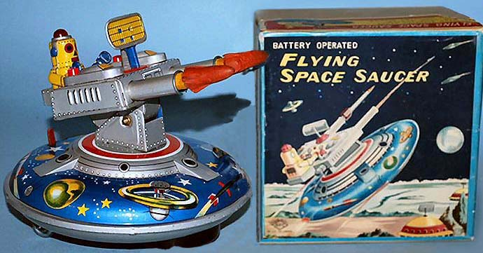 Vintage Space Toys : Buddy l bus for sale