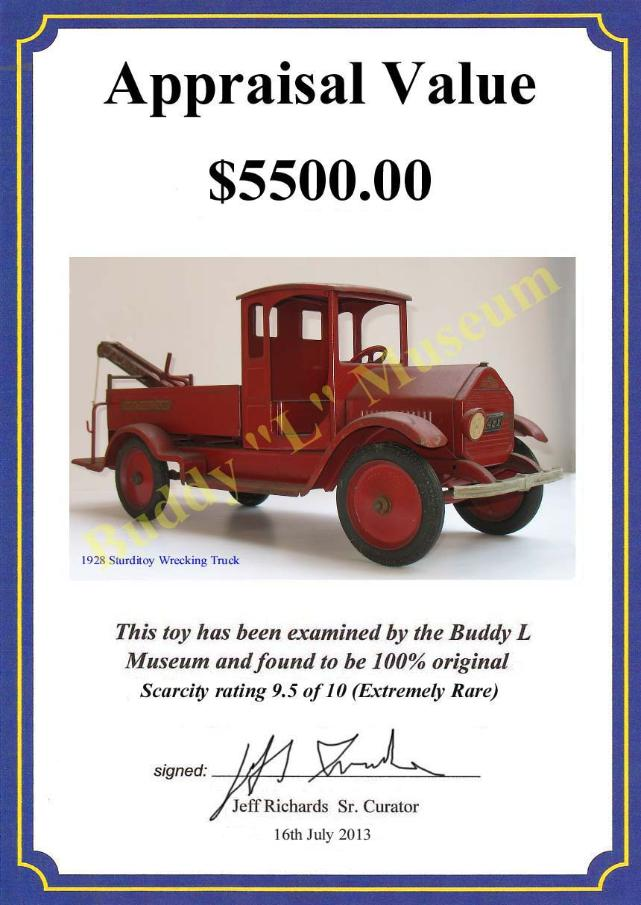 Buddy L Museum world's largest buyer of Sturditoy trucks www.buddylcars.com,  ebay sturditoy trucks for sale, Sturditoy vintage trucks wanted any conditon. Sturtditoy armored truck, sturditoy coal trucks, sturidtoy huckster truck, sturditoy ambulance. Free Buddy L Toys Appraisals, earlyl red sturditoy wrecker, late 20's sturditoy dump truck, vintage sturditoy truck appraisal, sturditoy trucks for sale, sturditoy water tower fire truck for sale, sturditoy pumper for sale, buying antique sturditoy trucks any condition, rare sturditoy trucks for sale, vintage buddy l bus for sale, space toys for sale, sturditoy express truck for sale, sturditoy dump truck for sale, facebook sturditoy trucks, Precise sturditoy truck appraisals