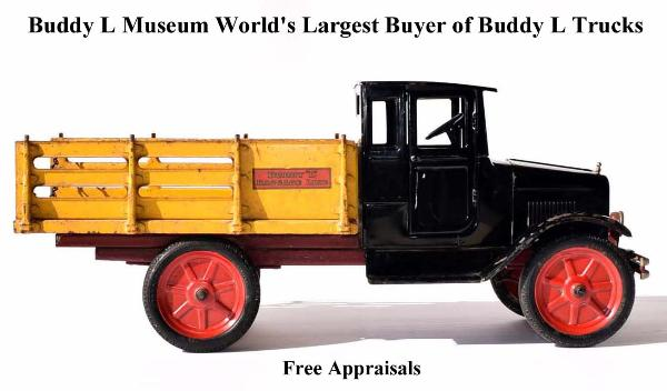 1920's Buddy L Toys, Buying Buddy L Trucks Visit The Buddy L Museum website and receive a free toy appraisal